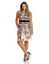 Women's Jessica Howard Dress Sz 22W Fit & Flare Sleeveless Pink Floral Print New