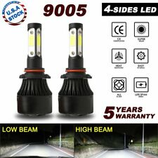 CREE 4-Sided LED Headlight Kit 9005 HB3 2400W 360000LM 6000K Hi Beam White Bulbs