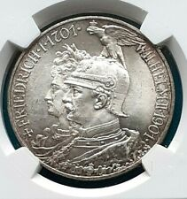 Prussia Preußen 5 Mark 1901 A 200 Years Anniversary NGC MS-65+ nice toned