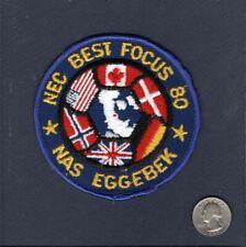 Original Nas Marine Luft Station Eggebek Deutschland US Base Geschwader Aufnäher