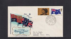 Australia 1970 Wesley Cover Service Royal Visit FDC