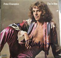 "Peter Frampton Autographed Album "" I'm In You"" COA CERTIFIED"