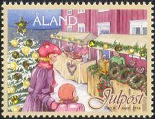Aland 2014 Christmas/Greetings/Hologram/Holograph/Tree/Street Market 1v (af1012)