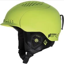 K2 Diversion Green Black Snowboard Baseline Audio System Ski Helmet Sz S NIB