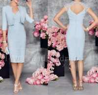 Formal Mother Of The Bride/Groom Outfits Free Jacket Knee Length Evening Dresses