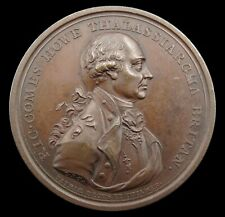 More details for 1794 admiral earl howe naval victory 48mm medal - by kuchler