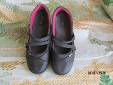 Crocs Women's Mary Jane Shoes Brown Leather Wedge Size 7.5