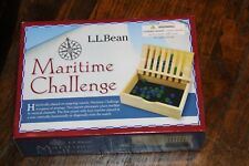 new sealed L.L. Bean Maritime Challenge Marble Game Wooden box NEW Ages 6+