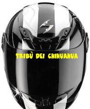 STICKER VISIERE TRIBU DEI CHIHUAHUA ROSSI RETRO REFLECHISSANT CASQUE MOTO SCOOT