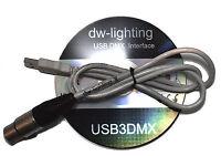 Profi DMX  Software 512 Kanäle +USB 2.0 DMX Kontroller Interface USB3DMX