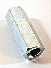 "Long Steel Standard Coupling Nuts Zinc Plated 1/2"" Width 3/8-16 UNC 1-1/8"""