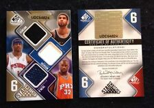 2009/10 SP 6X JERSEY #/65 Tim Duncan/Iverson/Shaquille O'Neal/Brand/Martin/Kwame