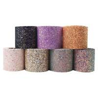 "1 Yard/roll 3"" Glitter Ribbon Soft Fabric Gift Package DIY Sewing Craft Material"