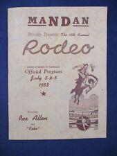 Mandan Rodeo - 13th Annual - 1953 - Official Program - Featuring Rex Allen
