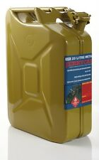 20L METAL JERRY CAN OLIVE YELLOW FOR DIESEL, AUSTRALIAN STANDARDS AS / 206-1999