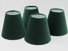 Small Candle Clip Tapered Lampshade Chandelier Velvet Forest Hunter Green