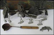 WWII ORIGINAL GERMAN COMPLETE DIES MATRIX SET FOR WEHRMACHT LEAD TOY SOLDIERS