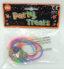PLASTIC BUTTERFLY BRACELET 6 PACK BRAND NEW GIRLS PARTY BAG TOYS - FAVOURS