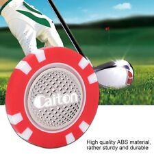 Golf Poker Chip Ball Marker ABS Magnetic Cap Hat Clip Level Marker Golfer Gift