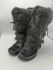 Oscar Sport Winter Boots Shearling Lined Leather Fur Black Womens EU 37 US 6.5