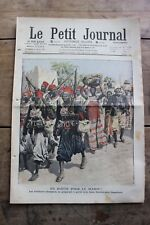Petit journal dibujada nº905 1908 Fuego De Senegalese Tirailleurs una escuela