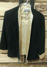 Sheri Martin Women's 2 Piece Black and Gold jacket with shell size 14