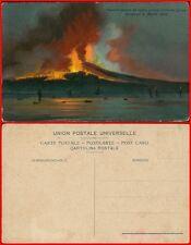 Vesuvio veduto dal mare presso Torre del Greco cartolina primi 900