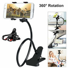 Flexible 360° Clip Mobile Cell Phone Holder Lazy Bed Desktop Bracket Mount Stand