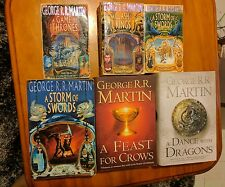 Game of Thrones Song of Ice and Fire Six Fantasy Book set by George R. R. Martin
