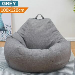 Bean Bag Extra Large Adult Chair Lazy Sofa Cover Indoor Outdoor Game Seat EU