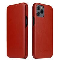 Luxus Echt Leder HandyHülle Flip Case Für iPhone 12 Mini 11 Pro XS Max XR 8 Plus