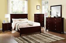 Modern Bedroom Furniture 4pc Set Est King Size Bed Dresser Mirror Nightstand New