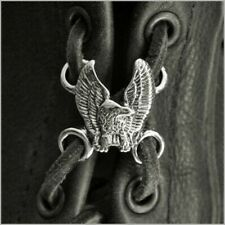 Eagle Wings Up Pewter Lace Up for Vest Extenders or Boot Laces Made in USA