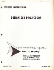 BELL & HOWELL SERVICE MANUAL: 253 PROJECTOR -1958