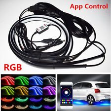 4Pcs RGB LED Car Underglow Light Underbody System Sound Active Phone App Control