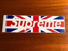 NEW Supreme Union Jack Box Logo Sticker - 100% Original -  Lot 2
