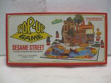 The Vintage Sesame Street Pop-Up Board Game 1982 Preassembled From Whitman gm376