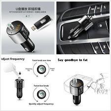 Wireless Bluetooth Car Fm Transmitter Mp3 Radio Player Charger Kit With Dual Usb (Fits: More than one vehicle)