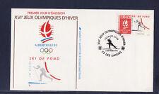 enveloppe 1er jour  Jeux Olympiques  ski de fond   73  les Saisies     1991