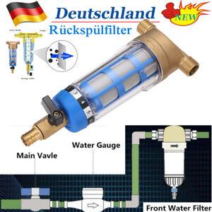 """Rückspülfilter Vorfilter Hausrohre Zentraler Wasserreiniger Entkalken 1/2 """"3/4"""""""