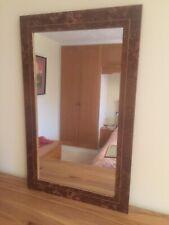 Wall Mirror Rectangular In Burr Brown Oak