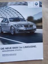 BMW 520i 528i 535i 550i 518d 520d 525d 530d 535di M550d F10 9/2013 Brochure