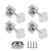 4 String Bass Guitar Tuners Tuning Pegs Keys Machine Heads Open Back 4R Silver