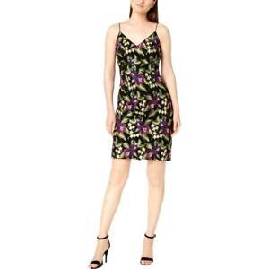 New Calvin Klein Floral Print Embroidered Mini Dress Sz UK- 12 Multi RRP-£160.00