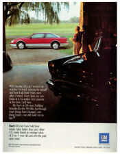 1989 GM Vintage Original Print AD - 1954 Buick, red 1989 Oldsmobile photo USA
