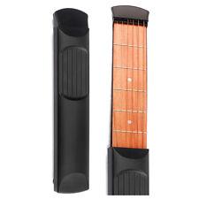 Portable Pocket Guitar 6 Fret Model Wooden Practice 6 Strings Guitar D2S9