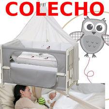 CUNA COLECHO +COLCHÓN +ROPA +RUEDAS +DOSEL +CHICHONERAS / MOON gris5 **NUEVA**