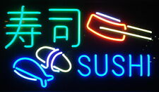 "Sushi Fish Japanese Food Open Neon Light Sign 17""x14"" Beer Glass Decor Lamp"