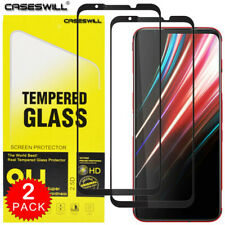 For ZTE nubia Red Magic 5G Caseswill FULL COVER Tempered Glass Screen Protector