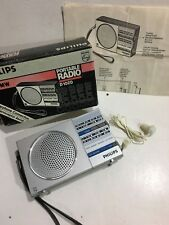 VINTAGE PHILIPS POCKET RADIO AM(MW)-LW 2-BAND FROM THE 1960S-1970s+BOX